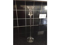 Glass candle sticks £2.50 each 70 available