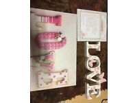 Love wedding candy cart signs decorations