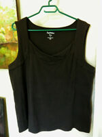 Reitman's Womens Dark Brown Plus Size 3x Tank Top Nice