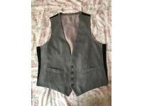 Burton Men's Slim Fit Grey Waistcoat Size 42R