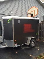 All aluminum  5' by 8' enclosed trailer