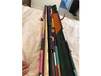 2 Month Old Maximus Ultimate 2347 Cue set with case and extensions