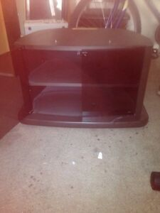 Tinted glass portable  tv cabinet 15 bucks