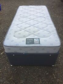 Single bed with mattress and storage can deliver.