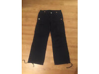 True Religion Brand Jeans dark blue cargo pants. Brand new. Waist 33. Thick stitch