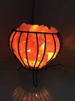 HIMALAYAN SALT METAL BASKET LAMP Sydney City Inner Sydney Preview