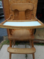 45 year old or more high chair and english pram