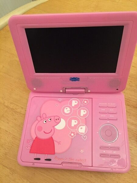 Kids peppa pig portable DVD player