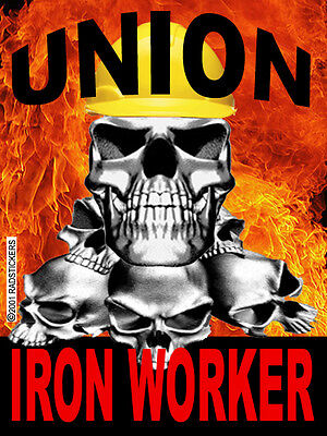 Union Ironworker With Skull And Flame Ciw-12