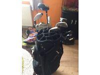 Golden bear golf clubs with bag
