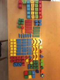 Wooden blocks and shapes
