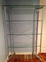 Etagere moderne vitre/Modern glass shelving unit