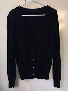 Country Road Merino Silk Black Cardigan (Size L) Brighton Bayside Area Preview