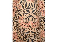 Curtains - William Morris interlined