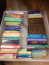 collection of medical and obstetric books