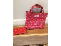 Cath Kidston red canvas bag and purse