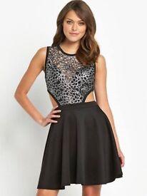 Size 14 Lace Cut Out Skater Dress