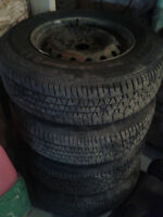 "4 Brand New ""Kelly"" Summer tires on rims.  195/75R14"