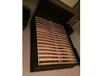King Size Ikea Bed with storage drawers FJELL