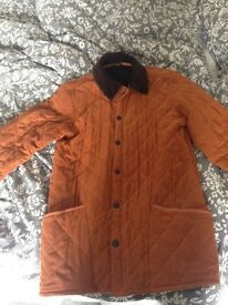 Real padded Barbour coat