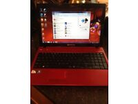 Packard bell red laptop