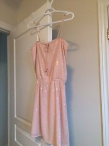 Light pink and sequence spaghetti strap dress