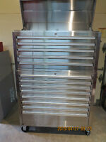 Coffre a outils 42 pouces base+tetes STAINLESS, NEUF