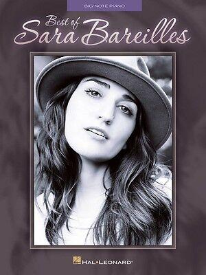 Best of Sara Bareilles Sheet Music Big Note Book NEW (Best Of Sara Bareilles)
