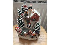 Music xmas house fountain £10