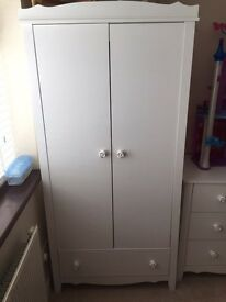 Children's Wardrobe, Chest Of Drawers and Ottoman