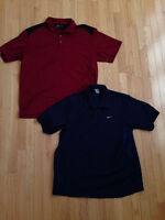 2 NIKE GOLF SHIRTS POLO  MENS SIZE XL