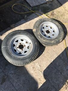 4 bolt trailer rims & tires