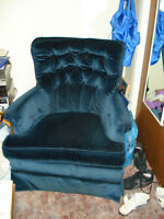 comfy navy blue chair