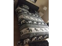 URGENT King size leather bed and mattress