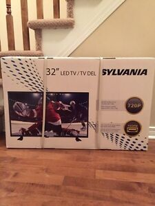 "32"" New factory sealed SYLVANIA LED TV with remote 240.00 obo"