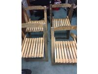4 Wooden garden chairs
