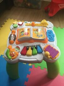 Baby's music table
