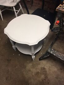 Chalk white occasional table