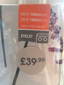Dunelm Mill - Moorlands lined eyelet Curtains. (measurements in description)