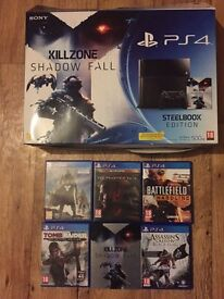 PS4 console (500GB) + 6 Games