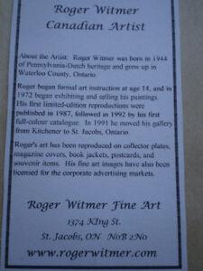 2-Roger Witmer Limited Edition Prints Kitchener / Waterloo Kitchener Area image 3