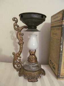 Antique 1800's Vapo-Cresolene Vaporizer Oil Lamp