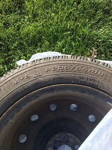 Set of Goodyear Winter Tires 8/10 Tread