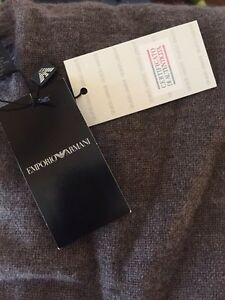 Brown cashmere scarf- Emporio Armani