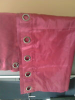 1 pair (2 Panels) red curtains