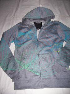 Urban Heritage swirl design grey hoodie
