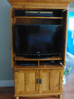Good condition Tv cabinet with swing out doors