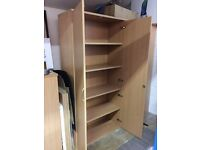 Three Large Modern Office Storage Cupboards