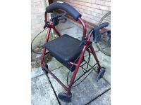 Zimmer frame wheelchair