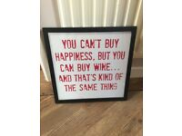 Lovely Framed Slogan Print